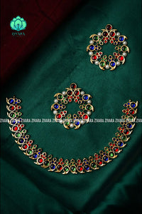Pallavi- kemp jewellery - Zivara fashion- south indian kemp neckw