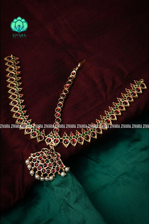 Nayana- A kemp bridal customised Indian hair accessory