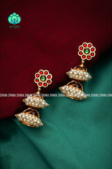 Two layer jhumka - a fashion kemp jewellery
