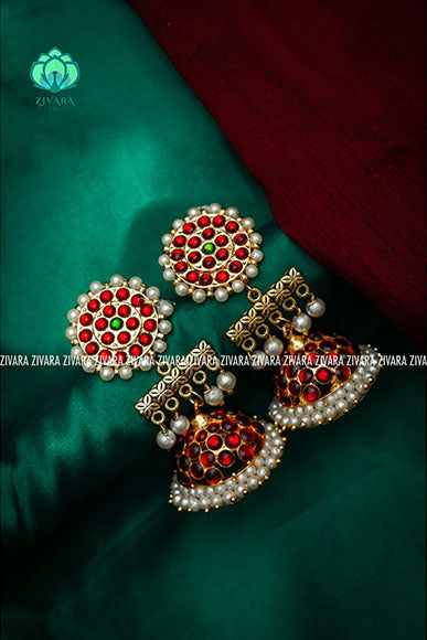 Jumbo bridal contemporary jhumkas - a fashion kemp jewellery