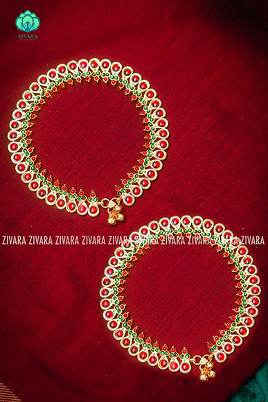 Payal-model 2- traditional kemp anklets