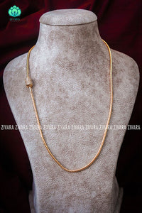Mogapu chains with micropolish gold - model 7