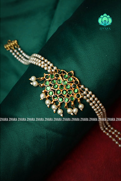 Tara - Pocket friendly chockers - south indian kemp neckwear for wome