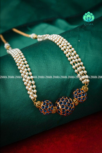 Kriya - Pocket friendly chockers - south indian kemp neckwear for women