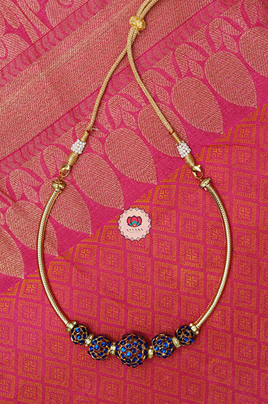 Soundaryam - Traditional kemp necklace type -south indian kemp neckwear for women