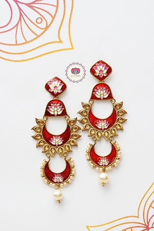 Meenakari balis-  earrings for women- Zivara Fashion