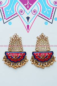 Royal mughal - Festive collections- Polki stone based jewellery- earring for women