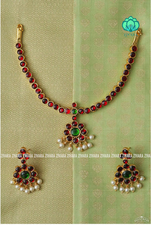 Chinmayi - A premium quality kemp neckwear with earrings - kemp jewellery