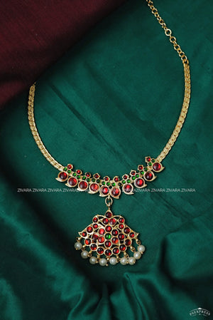 Shravanthi- kemp jewellery - Zivara fashion- south indian kemp neckwear for women
