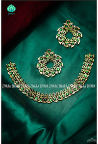 Pallavi-2 - kemp jewellery - Zivara fashion- south indian kemp neckwear for women