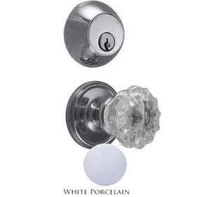 Octagon Crystal Entryway Set with Victorian Back Plate