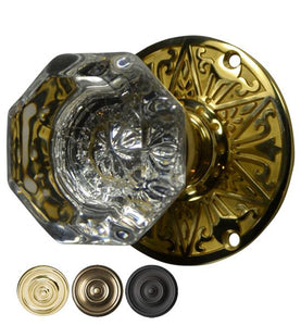 Eastlake Crystal Octagon Door Knob