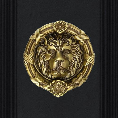 Ribbon & Reed 5 1/4 Inch Solid Brass Lion Door Knocker