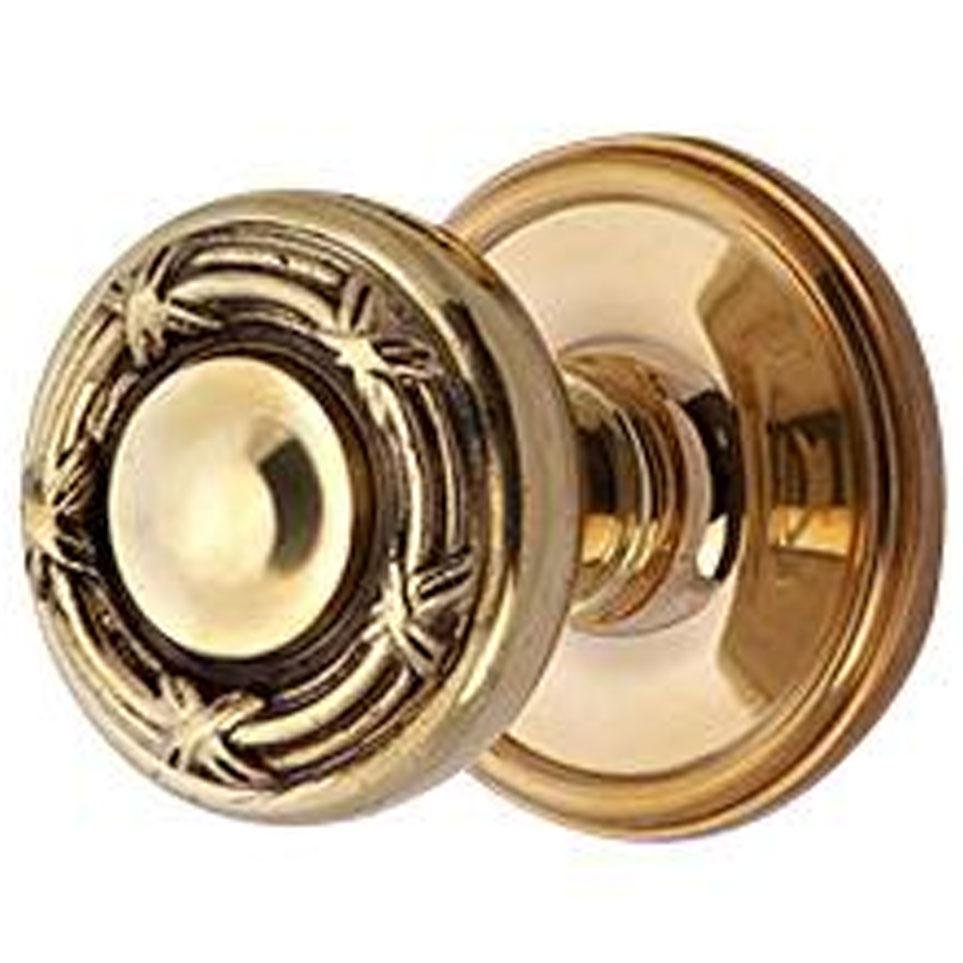 Solid Brass Ribbon & Reed Door Knob Set