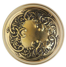 Floral Leaf Door Knob With Feather Rosette