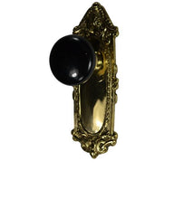 Largo Design Black Porcelain Door Knob Set