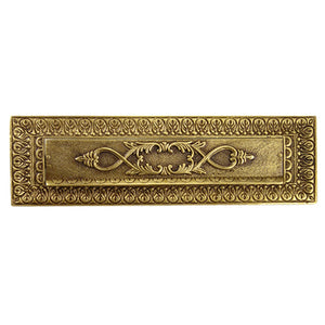 Antique Mail Front Door Slot - Victorian Style Mail Slot (Several Finishes Available)