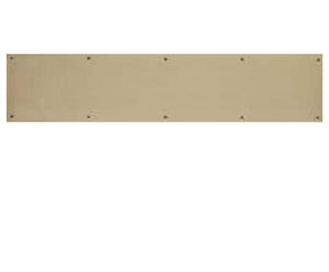 10 Inch Tall Solid Brass Kick Plate