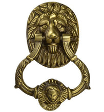 4 3/4 Inch Large Ornate Lion Door Knocker