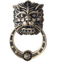 8 3/8 Inch Solid Brass Regal Lion Door Knocker