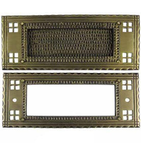 Antique Craftsman Style Mail Slot for Front Doors