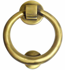 5 1/2 Inch Solid Brass Traditional Ring Door Knocker (Several Finishes Available)