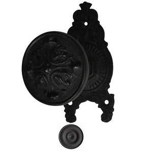 Romanesque Style Ornate Victorian Door Knob Set