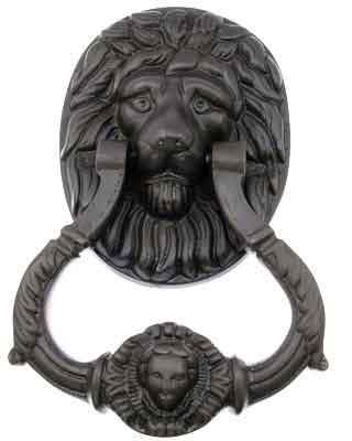 7 Inch (3 3/4 Inch c-c) Large Ornate Lion Door Knocker