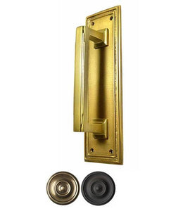 10 Inch Solid Brass Classic Art Deco Style Pull and Push Plate (Several Finishes Available)