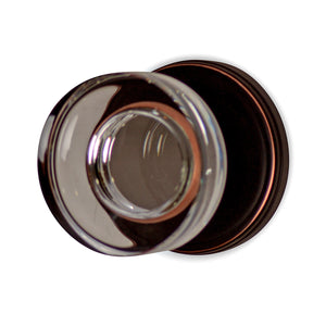 Round Crystal Disc Door Knob with Classic Plate (Several Finishes Available)
