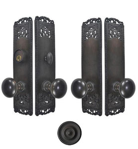 Cornice Plate Double-Door Deadbolt Entryway Set
