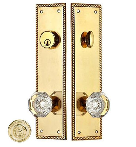 Georgian Roped Single Door Deadbolt Entryway Set