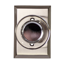 Crystal Clear Disc Door Knob Set with Rectangular Rosette (Several Finishes Available)