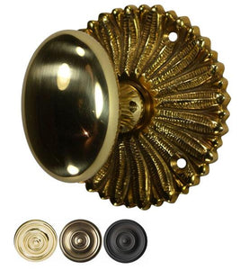 Hollywood Regency Brass Egg Style Door Knob Set
