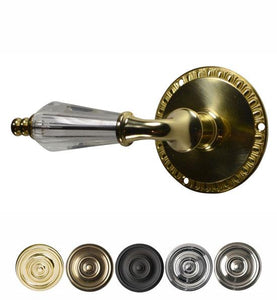 Crystal Lever Door Knob with Egg Dart Rosette