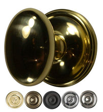 Solid Brass Egg Door Knob Set