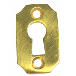 1 1/2 Inch Solid Brass Small Escutcheon Key Hole Plate