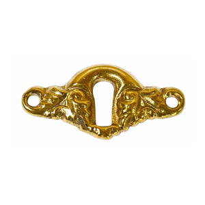 2 Inch Angel Wing Escutcheon Keyhole