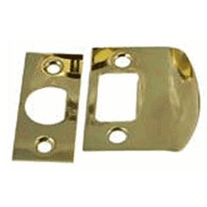 Solid Brass Standard Strike Plate and Face Plate