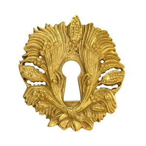 Solid Brass Harvest Key Hole Cover