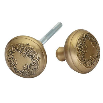 2 Inch Floral Leaf Spare Door Knob Set