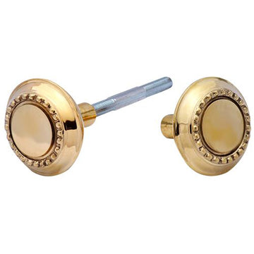 Solid Brass Beaded Spare Door Knob Set