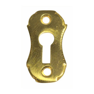 1 5/8 Inch Solid Brass Small Escutcheon Key Hole Plate