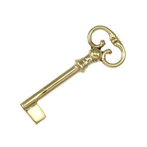 2 11/16 Inch Brass Georgian Style Skeleton Blank Key