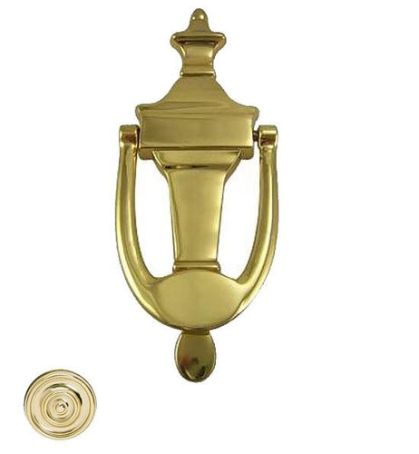 6 3/4 Inch Solid Brass Traditional Door Knocker