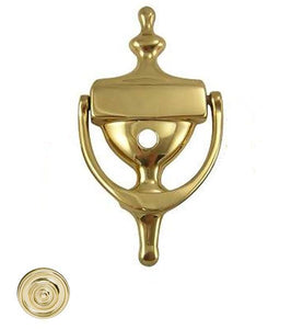 6 1/2 Inch Solid Brass Traditional Door Knocker