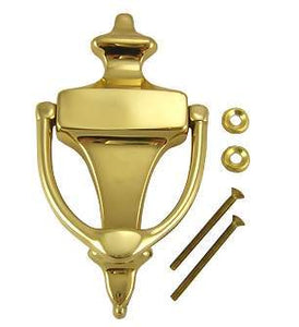 6 Inch (4 1/4 Inch c-c) Solid Brass Traditional Door Knocker