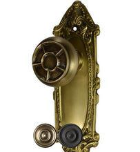 Largo Design Solid Brass Pinwheel Inlay Door Knob Set