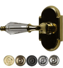 Solid Brass Lever Door Knob Set With Arched Rosette