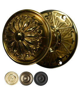 Lancaster Solid Brass Door Set With Provincial Style Knob